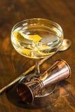 Vesper Martini 007. The Vesper or Vesper Martini is a cocktail that was originally made of gin, vodka, and Kina Lillet Stock Images