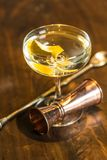 Vesper Martini 007. The Vesper or Vesper Martini is a cocktail that was originally made of gin, vodka, and Kina Lillet Stock Photography