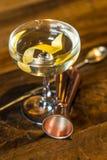 Vesper Martini 007. The Vesper or Vesper Martini is a cocktail that was originally made of gin, vodka, and Kina Lillet Stock Image