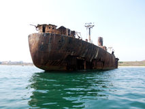 Vessel aground Royalty Free Stock Images