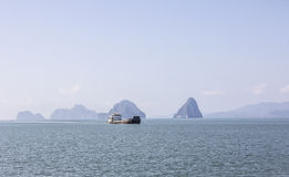 Vessel in the andaman sea Royalty Free Stock Photos