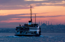 VESSEL IN BOSPHORUS Stock Photo