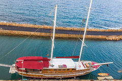 Vessel deck aerial view Royalty Free Stock Photography