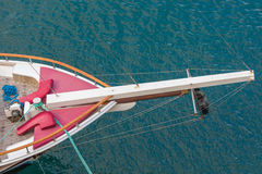 Vessel deck aerial view Royalty Free Stock Images