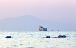 The vessel in the Gulf of Thailand Royalty Free Stock Photography