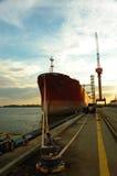 Vessel I. Vessel moored stock images