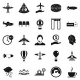 Vessel icons set, simple style. Vessel icons set. Simple set of 25 vessel vector icons for web isolated on white background Stock Photos