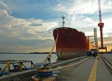 Vessel II. Vessel moored II stock photography