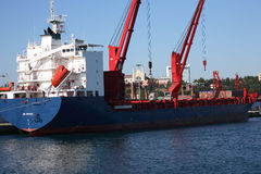 Vessel Loading Royalty Free Stock Photography