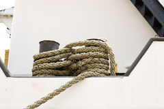 Vessel part with rope Stock Image