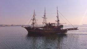 Vessel. Pirate vessel in Thessaloniki Royalty Free Stock Photo