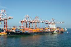 Vessel in port Stock Image