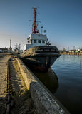 Vessel in the port Royalty Free Stock Photography