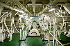 Vessel's ( Ship ) Engine Room Space. Stock Photo
