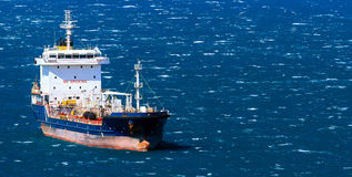 Vessel in a sea Stock Images