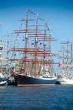 Vessel `Sedov` docks in Klaipeda during Tall Ship Races 2017 Royalty Free Stock Images