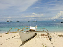 Vessel on the Shore. Of Malapascua Island in the Philippines Royalty Free Stock Image