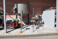 Vessel to soak barley and mobile cooling system be Royalty Free Stock Images