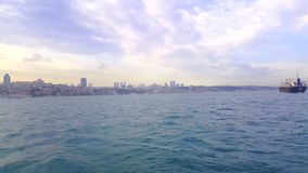 Vessel Traffic and View of istanbul, Turkey.  stock footage