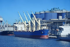 Vessel under loading Stock Photo