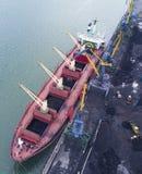 Vessel under loading Stock Photography