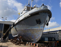 Vessel under repair process Stock Photos