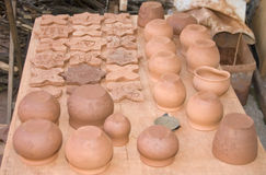 Vessels of clay and ceramic Stock Image
