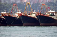 Vessels in Hongkong Stock Photo