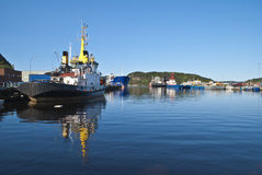 Vessels at the port of Halden Royalty Free Stock Photography