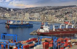 Port of Valparaiso Stock Photos