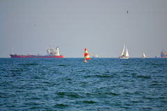 Vessels in the sea Stock Photography