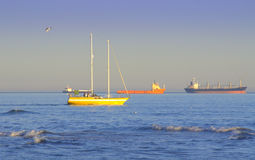 Vessels in sea view Stock Photography