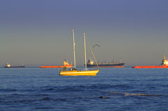 Vessels in sea view Royalty Free Stock Photos