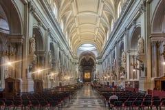 Vestíbulo adornado en Palermo, Italia Imagen de archivo libre de regalías