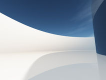 Vestíbulo circular con el cielo Foto de archivo libre de regalías