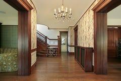 Vestíbulo com paneling de madeira Fotografia de Stock Royalty Free