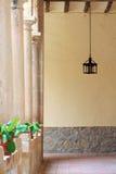 Vestíbulo con las columnas Fotografía de archivo libre de regalías