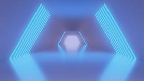 vestíbulo de la ciencia ficción 4K stock de ilustración