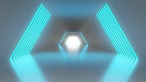 vestíbulo de la ciencia ficción 4K ilustración del vector