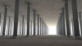Vestíbulo de las columnas Fotografía de archivo libre de regalías