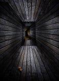 Vestíbulo de madera Fotografía de archivo libre de regalías