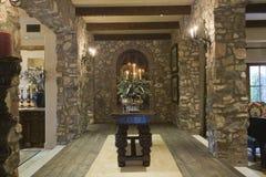 Vestíbulo de piedra de la entrada Foto de archivo libre de regalías