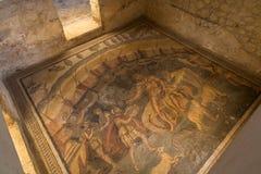 Vestíbulo de Polyphemus en el chalet Romana del Casale, plaza Armerina foto de archivo libre de regalías