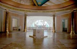Vestíbulo do ` s das mulheres e capela do barco em Magdala, Israel imagem de stock