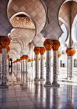 Vestíbulo HDR de la mezquita Imagen de archivo libre de regalías