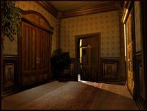 Vestíbulo victoriano del hotel Fotografía de archivo libre de regalías