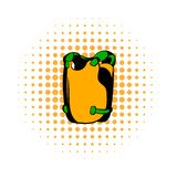 Vest comics icon. Isolated on a white background vector illustration