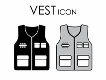 Vest icon colored and black fill royalty free illustration