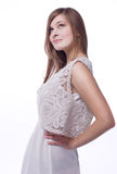Vest in lace and linen cloth Stock Photo
