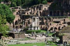 Vesta寺庙在罗马广场的 库存图片